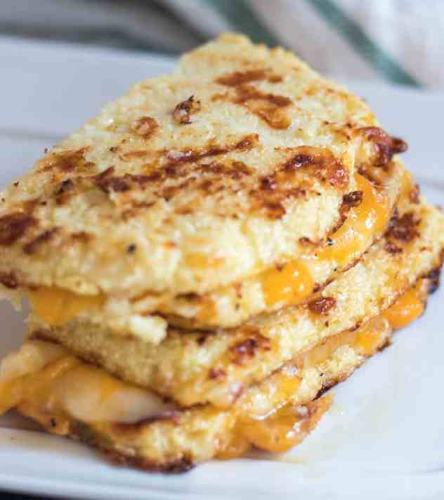 Cauliflower Bread Grilled Cheese Sandwich