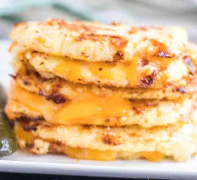 Cauliflower Bread Grilled Cheese Sandwich