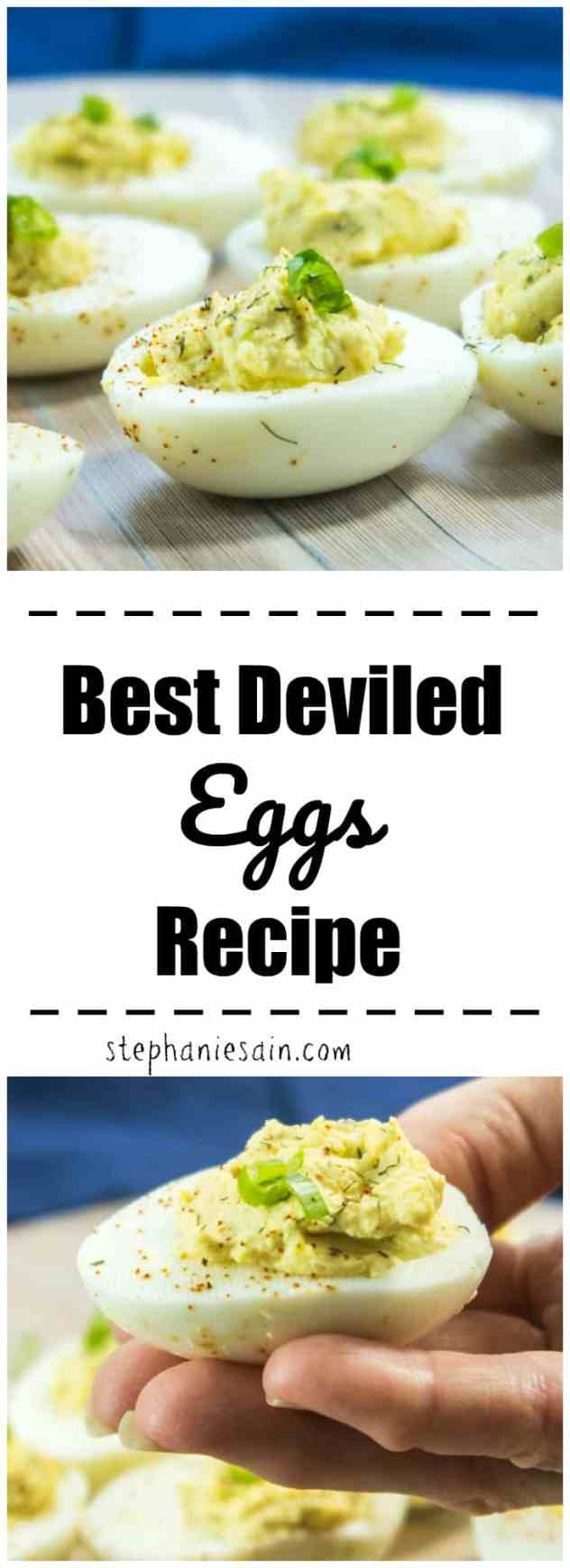 This Best Deviled Eggs Recipe is super Easy to make and will soon become you go-to for deviled eggs. Perfect for family gatherings, holidays and cookouts. Gluten Free & Vegetarian.