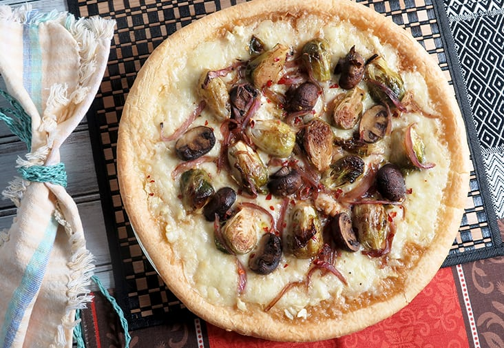 Brussel Sprouts and Mushroom PIzza