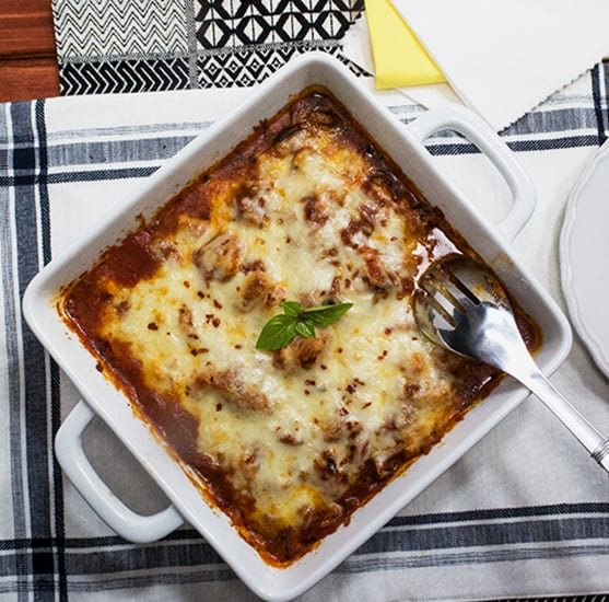 Italian Cauliflower Marinara Bake