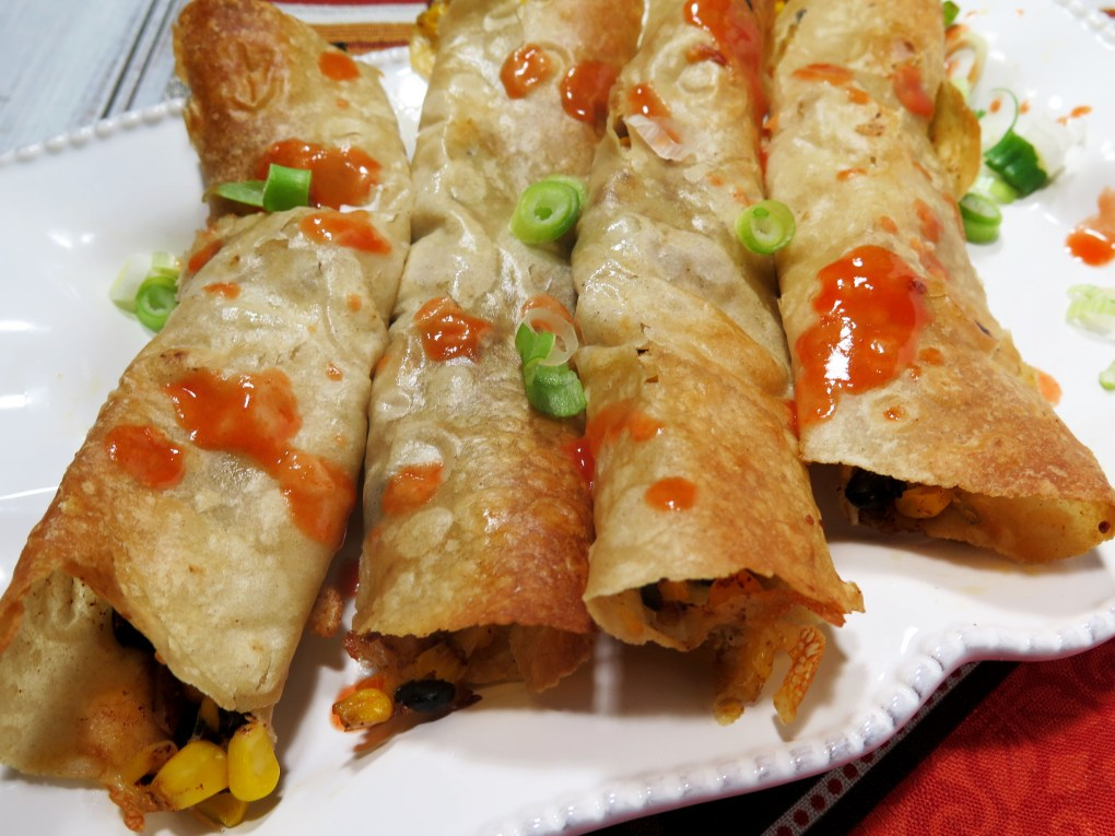 Black Bean Corn Taquitos