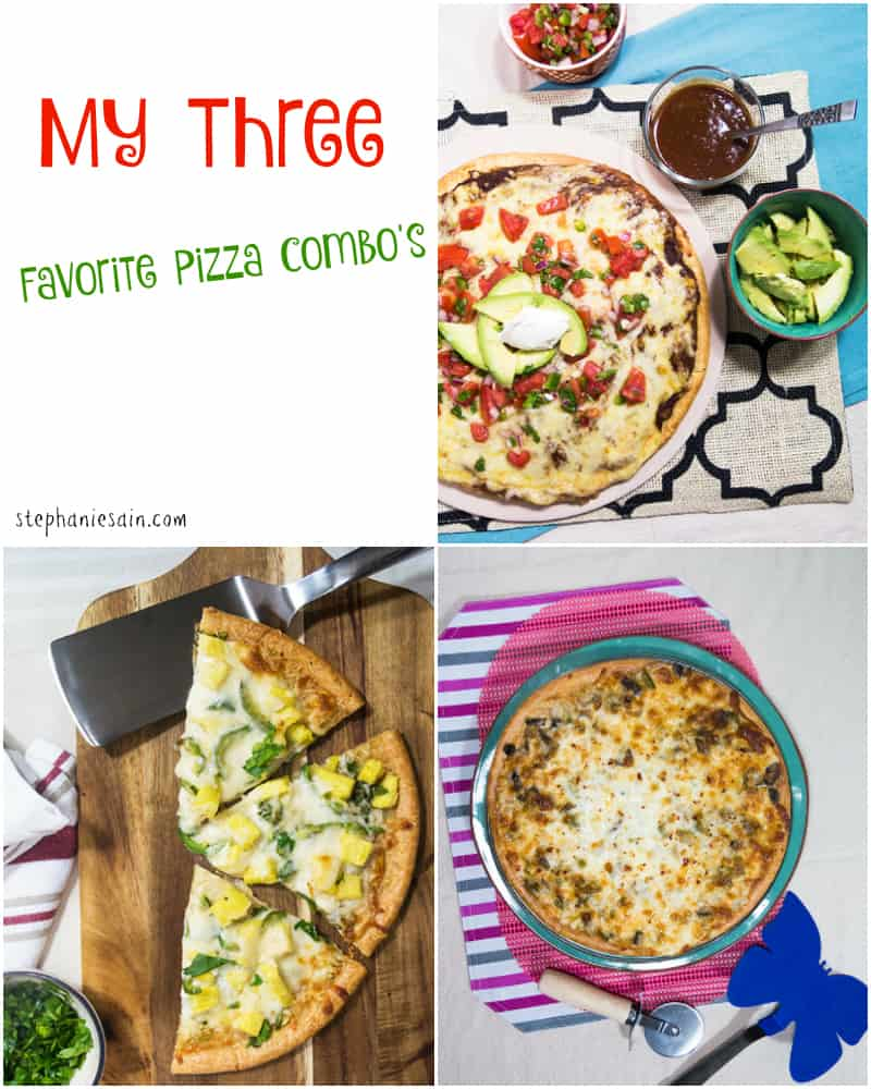 My three favorite pizza combinations
