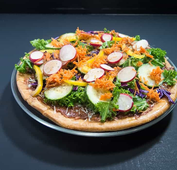 Easy Vegetable Salad Pizza