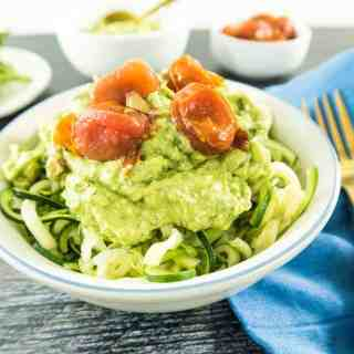 Zoodles with Avocado Cream Sauce
