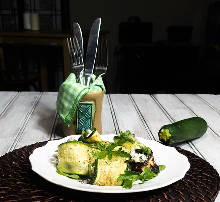 Zucchini Goat Cheese Rolls