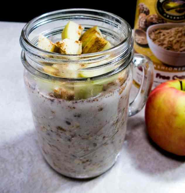 Almond Butter Apple Overnight Oats