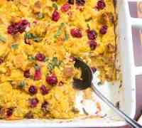 Easy Gluten Free Cranberry Stuffing