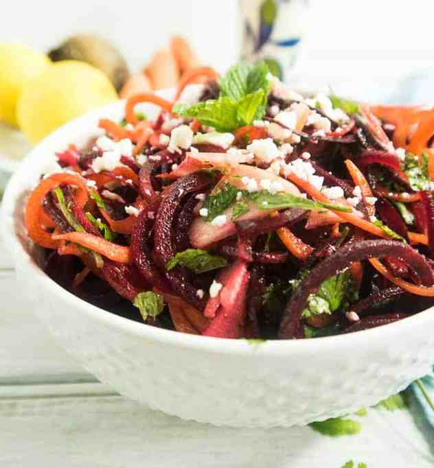 Spiralized Carrot Beet & Apple Salad