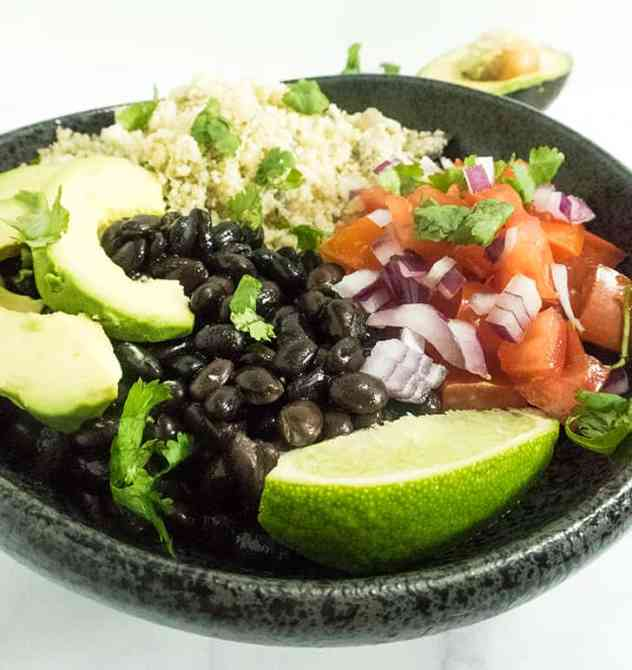 Mexican Cauliflower Rice Burrito Bowls