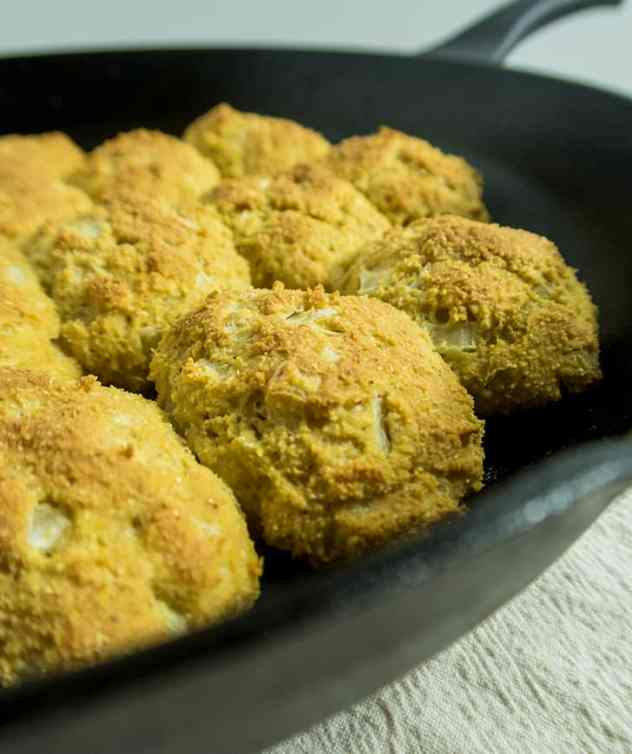 One Pan Skillet Baked Hush Puppies