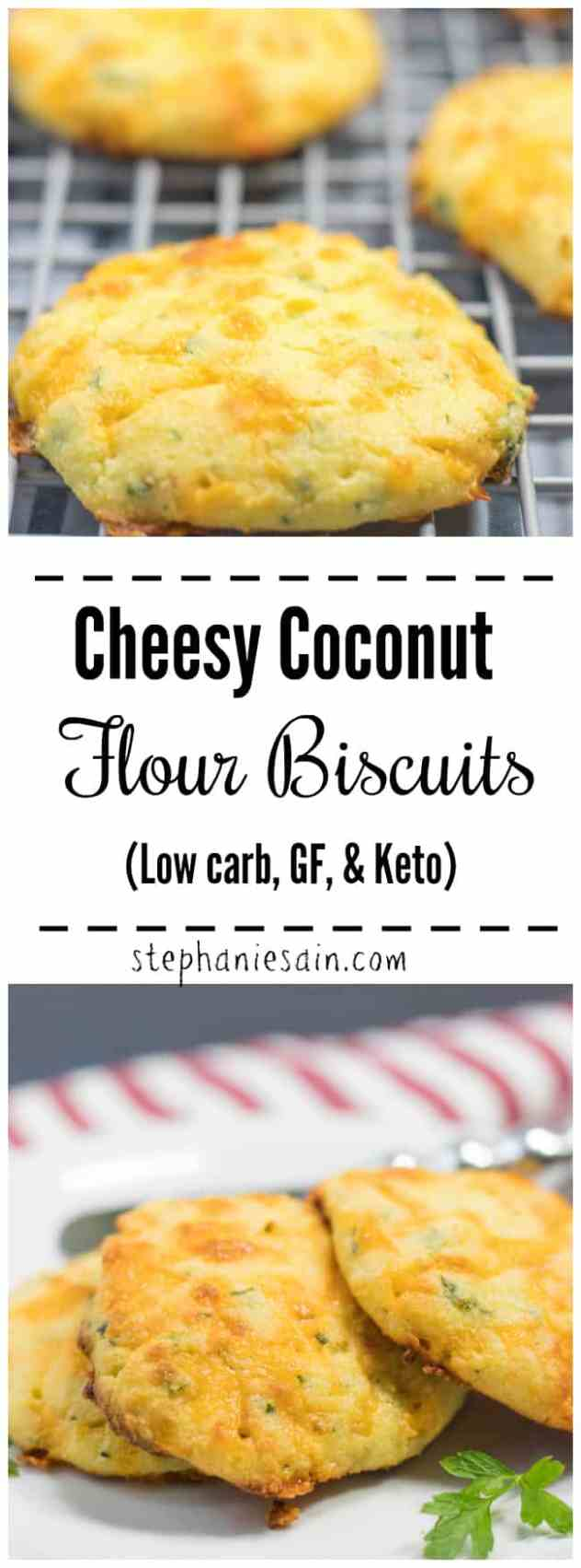 These Coconut Flour Biscuits are loaded with cheese, and garlicky flavor. Great for a side, snacks, breakfast or anytime. A guilt free yummy biscuit that is Low carb, GF, & Keto. Serve them along side any meal or at gatherings. Super easy to make.