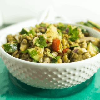 Lentil Bean Cucumber Salad