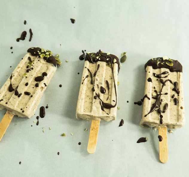 Chocolate Almond Butter Popsicles