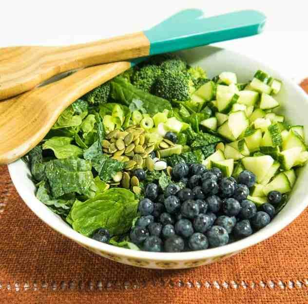 Three Greens Summer Detox Salad