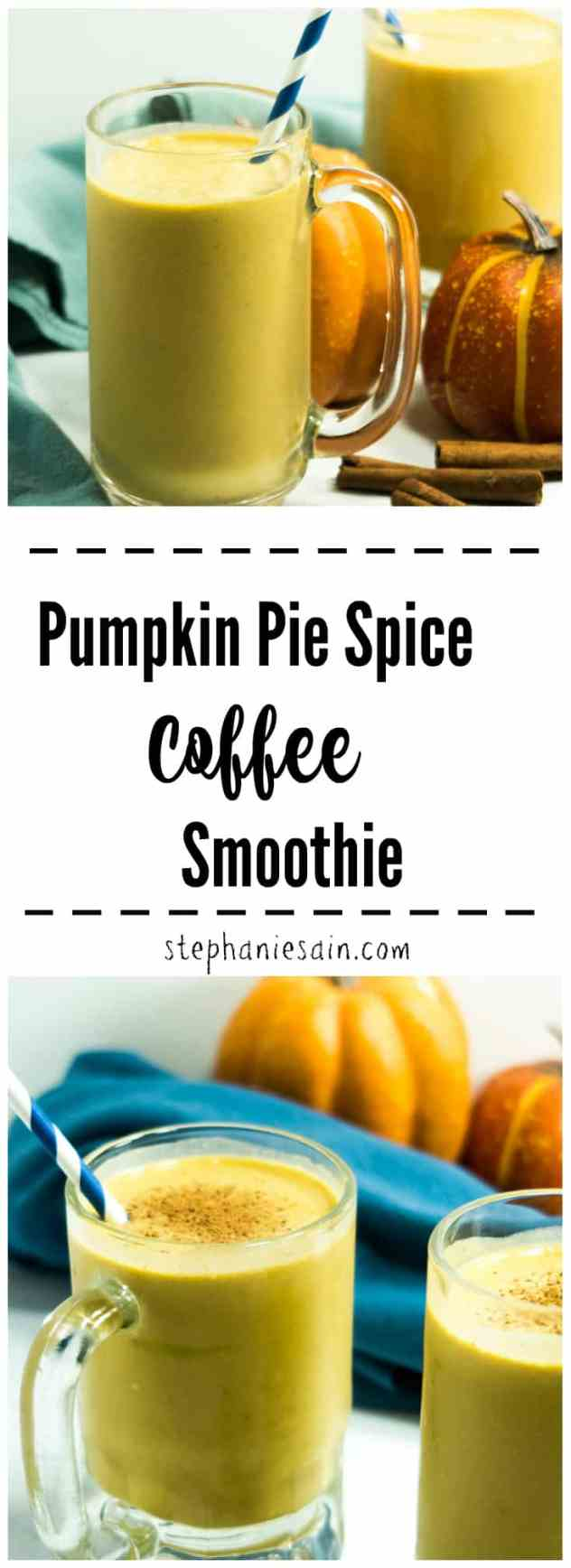 Pumpkin Pie Spice Coffee Smoothie is the perfect way to combine breakfast with your morning coffee. Easy to prepare and has all the flavors of Fall. Gluten free, No refined sugars, & vegan option.