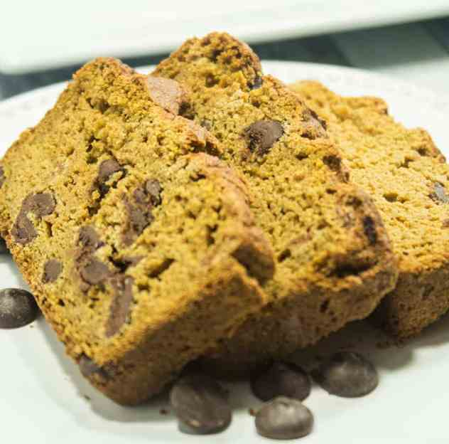 Chocolate Chip Pumpkin Bread (Gluten Free)