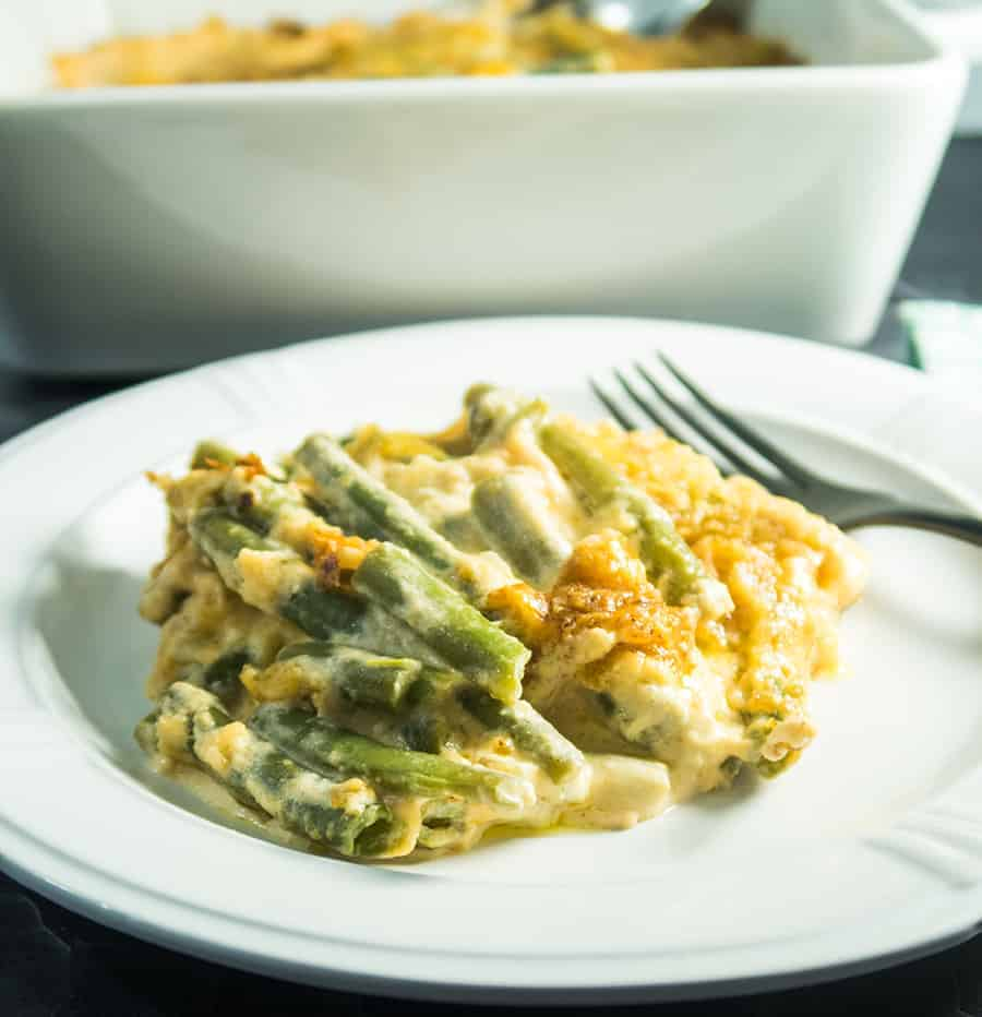 Cheesy Green Beans Au Gratin Bake