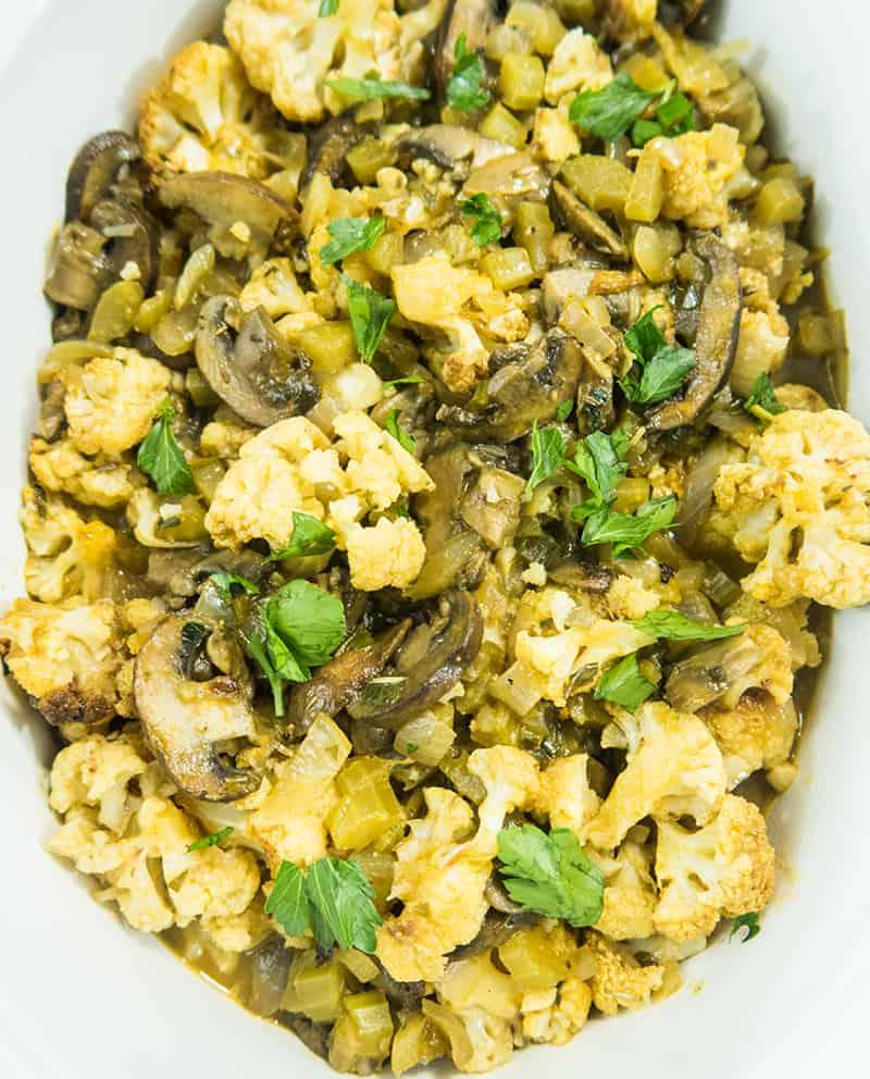 Roasted Cauliflower Stuffing (Gluten Free)