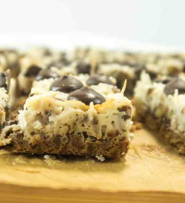 Easy Healthier Magic Cookie Bars (Gluten Free)