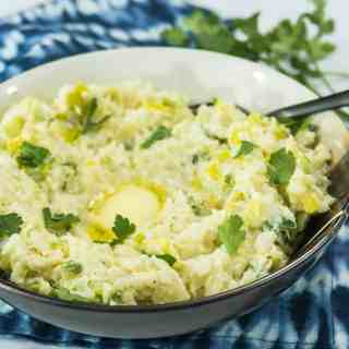Mashed Cauliflower Colcannon (Low Carb & Gluten Free)