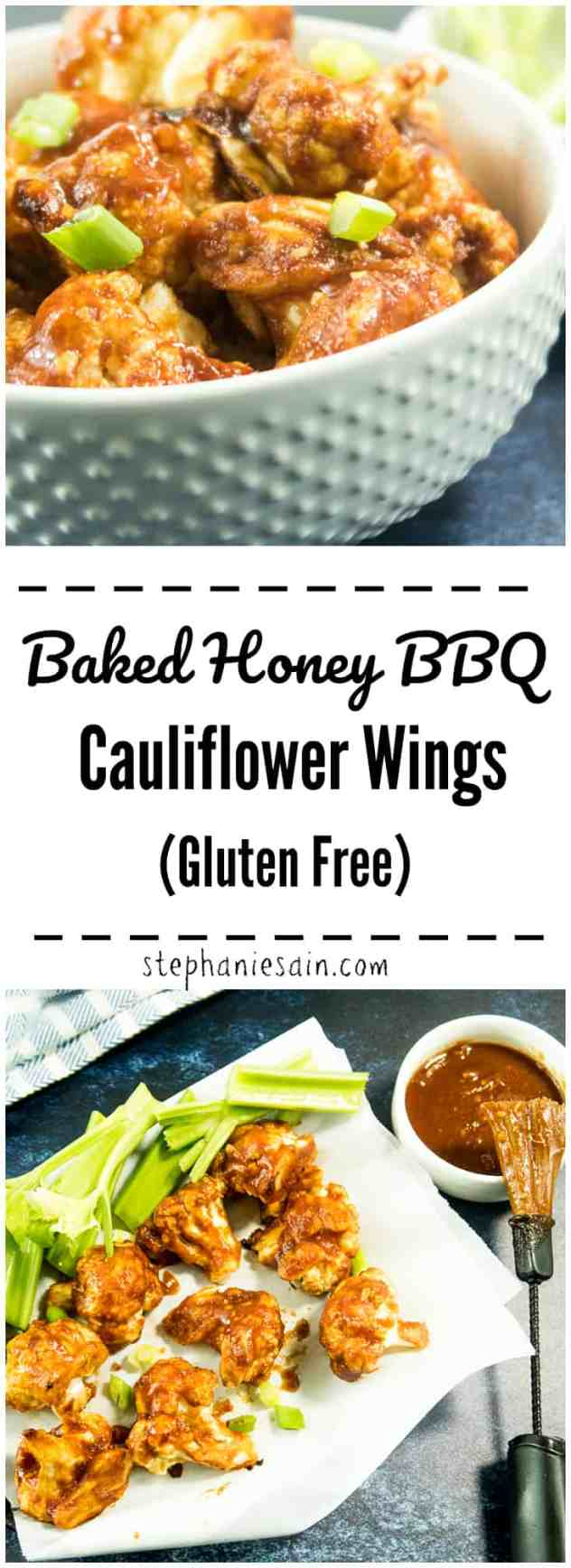 These Baked Honey BBQ Cauliflower Wings are lightly coated in a gluten free batter & baked. Then coated with a homemade Honey BBQ sauce. Sweet, sticky and delicious. Perfect for an appetizer or main dish with sides.