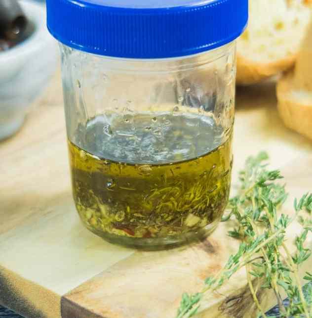 Easy Garlic Lovers Dipping Oil (Vegan & Gluten Free)