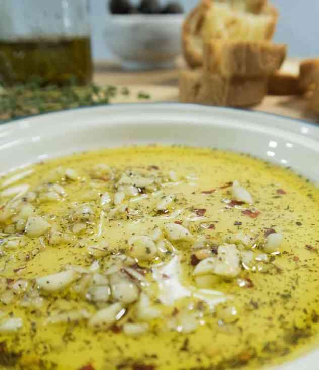 Garlic Lovers Dipping Oil (Vegan & Gluten Free)