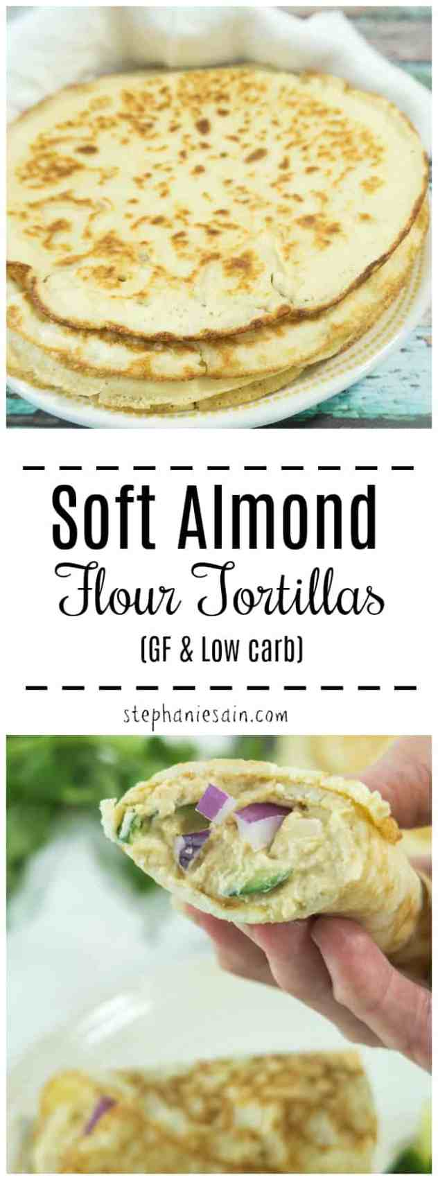 These Soft Almond Flour Tortillas are super soft, pliable and perfect for all your wrapping needs. Great for burritos, tacos, sandwiches and much more. Gluten Free & Low carb.