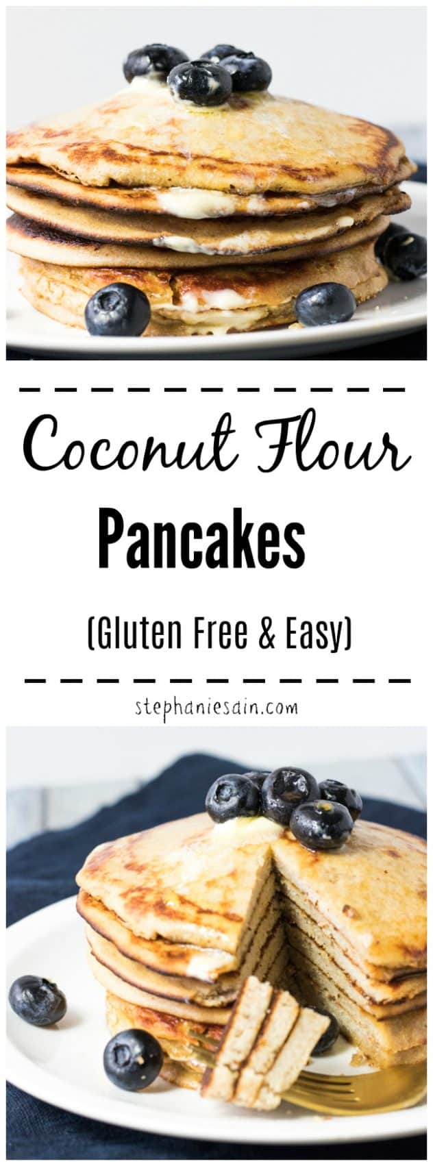 This Coconut Flour Pancakes are super easy to make, flavorful and loaded with healthy fats and fiber. Perfect way to start your day and will easily hold you till lunch. Great also served cold as a snack. Flavorful enough to eat plain or can be topped with all your favorites. Gluten Free.