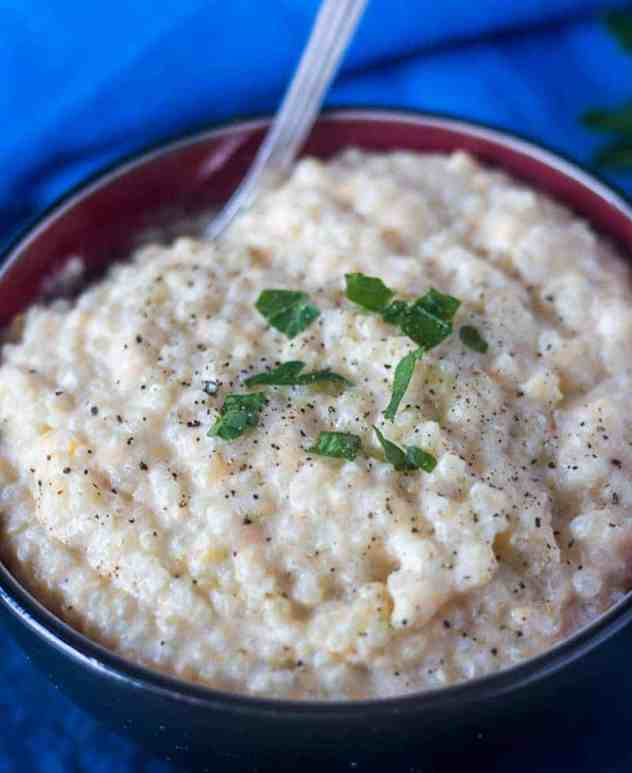 Stovetop Cheesy Quinoa