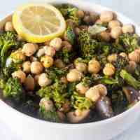 Roasted Broccoli Chickpea Salad (Vegan, Gluten Free)
