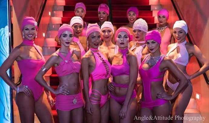 Models from 15 Shades of Pink Fashion Show
