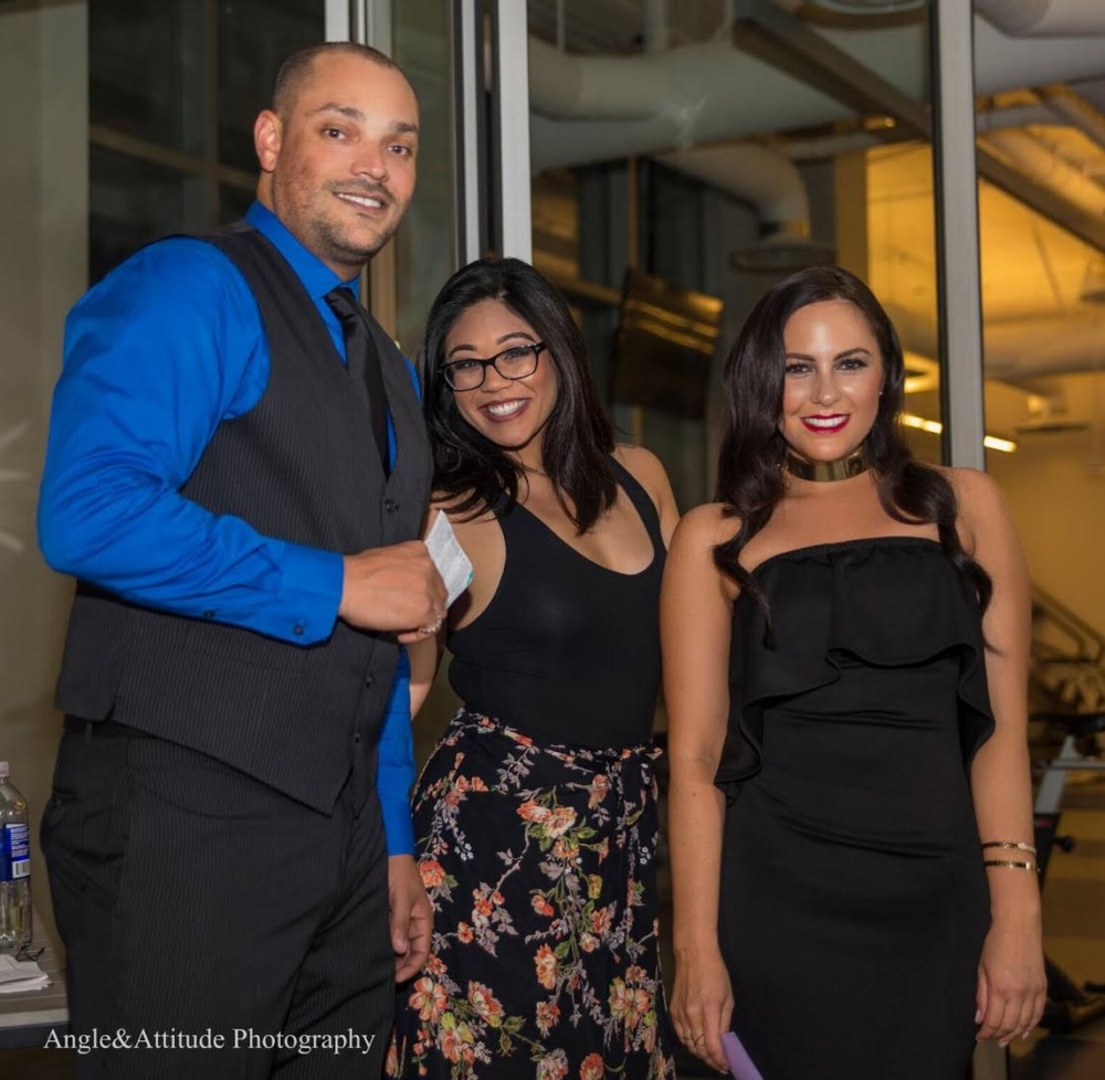 Jason Dennis (host), Thanhdi Nguyen (Creative Director/Event Coordinator, Stephanie Seban (host)