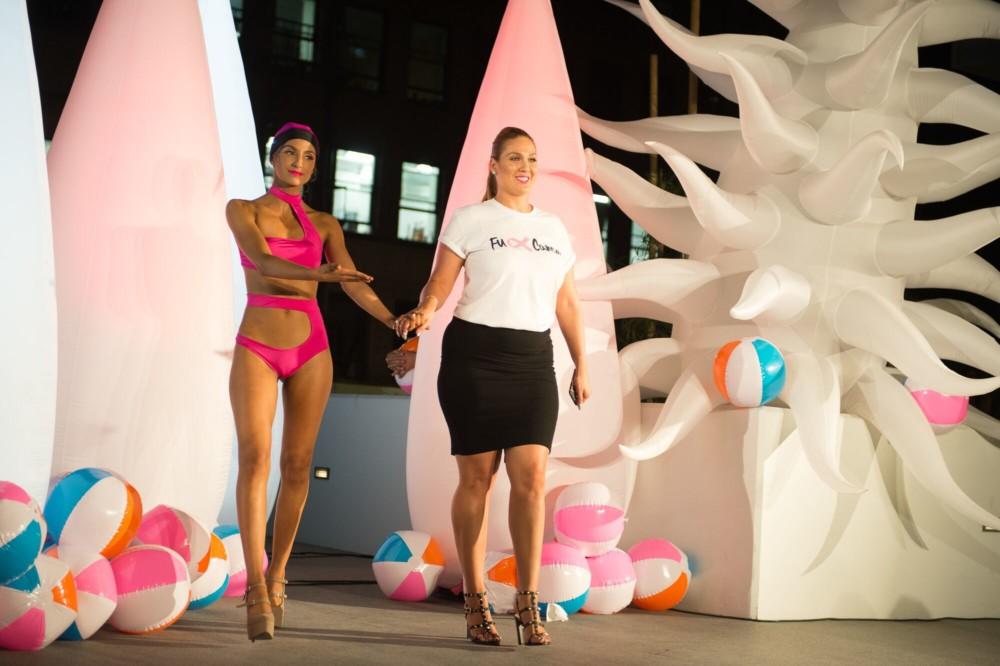 Model Mariah Perez and Designer Liz Luque
