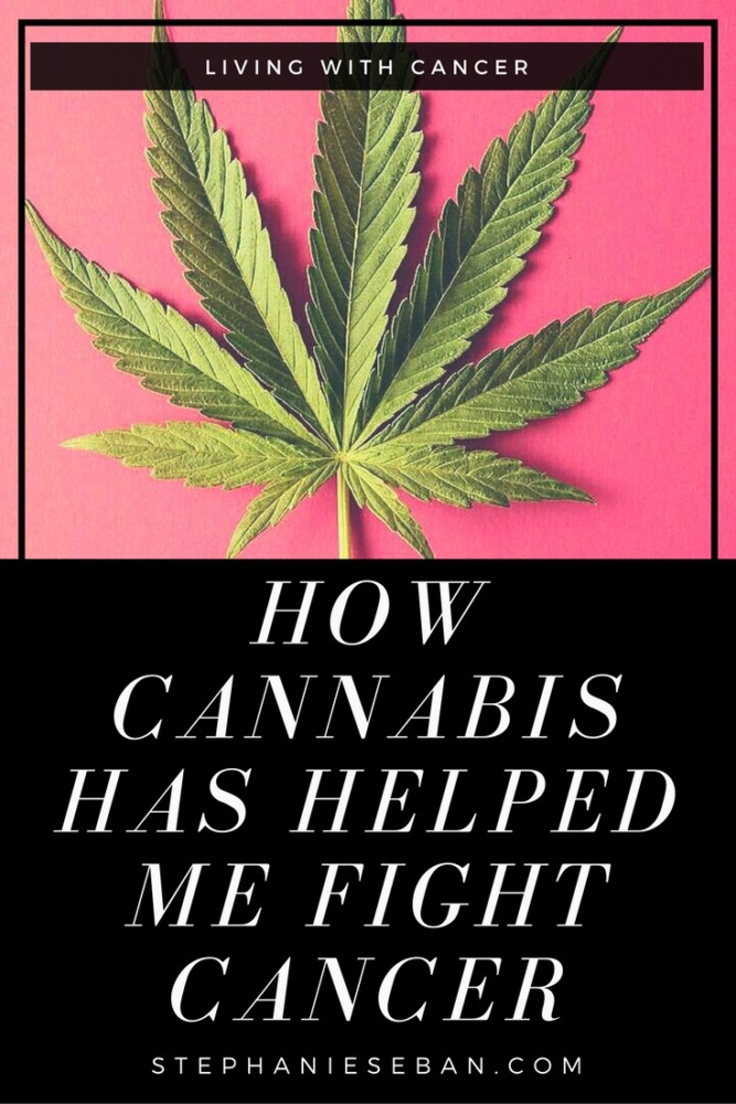 Cannabis oil has cancer fighting properties, I am living proof. It played a crucial role in helping me fight breast cancer when it metastasized to my lungs - StephanieSeban.com