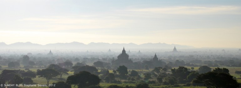 Morning mist in Bagan