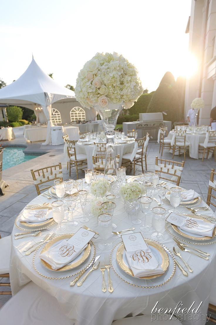 gold chairs and plates