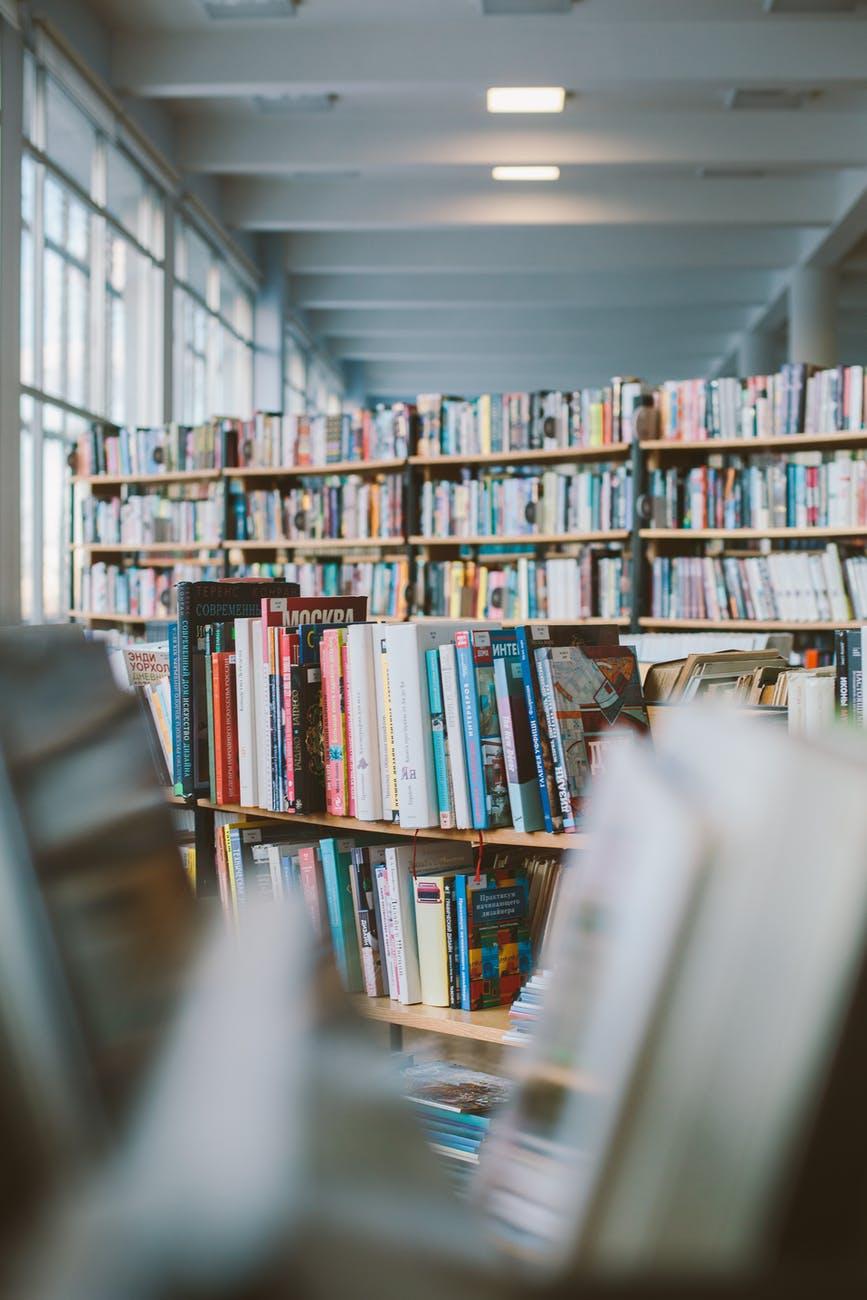 photo of books on bookshelves