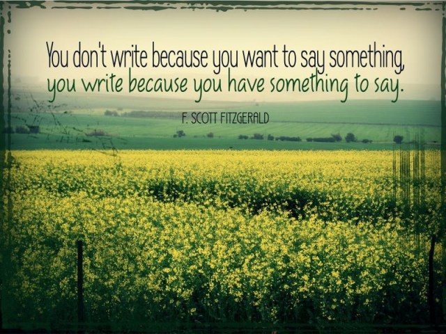 WritingToSay