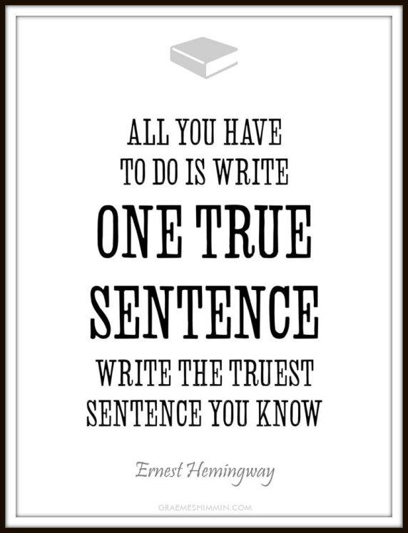 One-True-Sentence