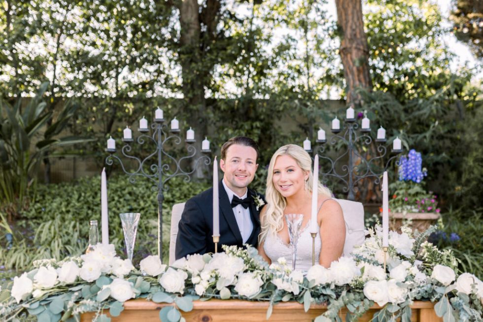 Bride and Groom, Sweetheart Table, Orange County Wedding Photographer, Stephanie Weber Photography. - stephanieweberphotography.com