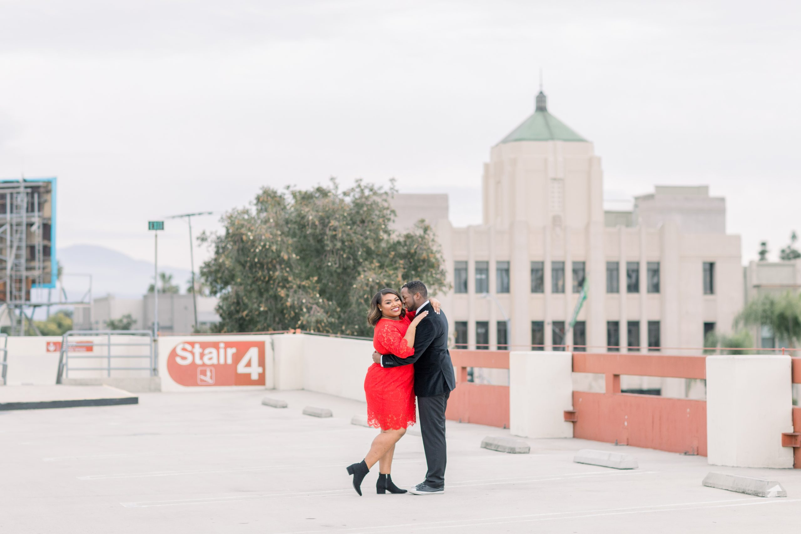 Rooftop Engagement Session - Stephanieweberphotgraphy.com