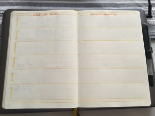 weekly dinner plan & journal page