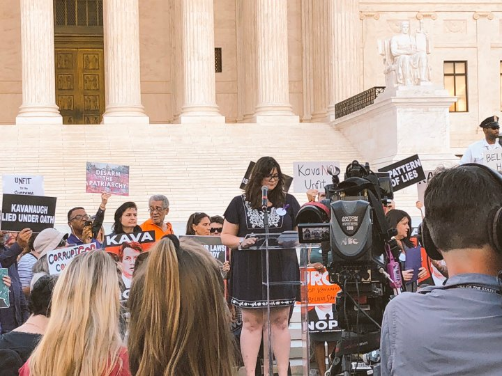 Speaking out at the Supreme Court against Kavanaugh