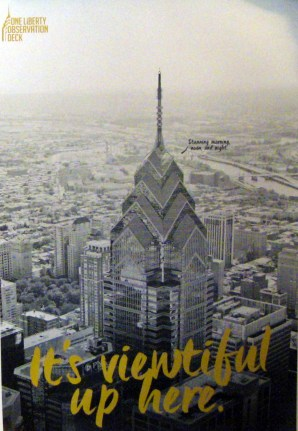 Promotional Poster for the opening of Philly From The Top at One Liberty Place