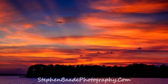 Lake Murray Sunset - Late Fall