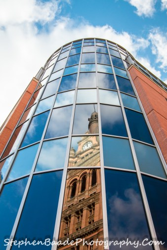 City Clock Tower Reflection