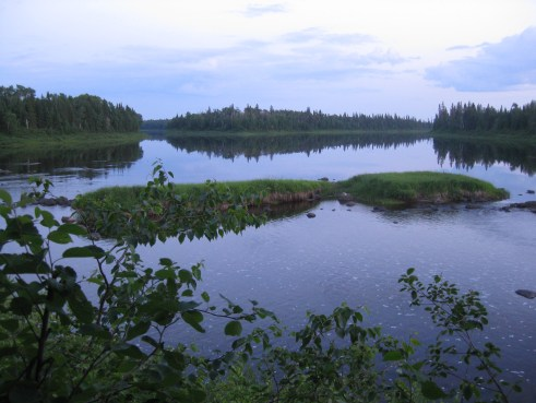 View of Skunk Island from Isabel Island Site