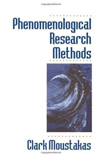 The cover of Moustakas' Phenomenological Research Methods